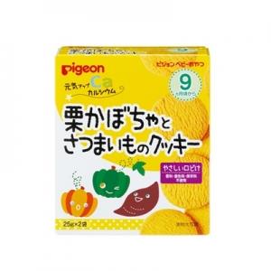 日本【貝親Pigeon】南瓜甘藷餅乾 (9個月以上)
