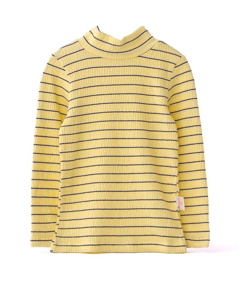☆傑媽童裝☆EPK立領內搭條紋長袖上衣-黃黑條【80930-6】