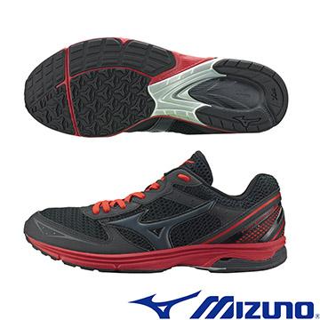 J1GA168689 (黑X黑X紅)WAVE EMPEROR TR 皇速! 路跑訓練鞋  A【美津濃MIZUNO】