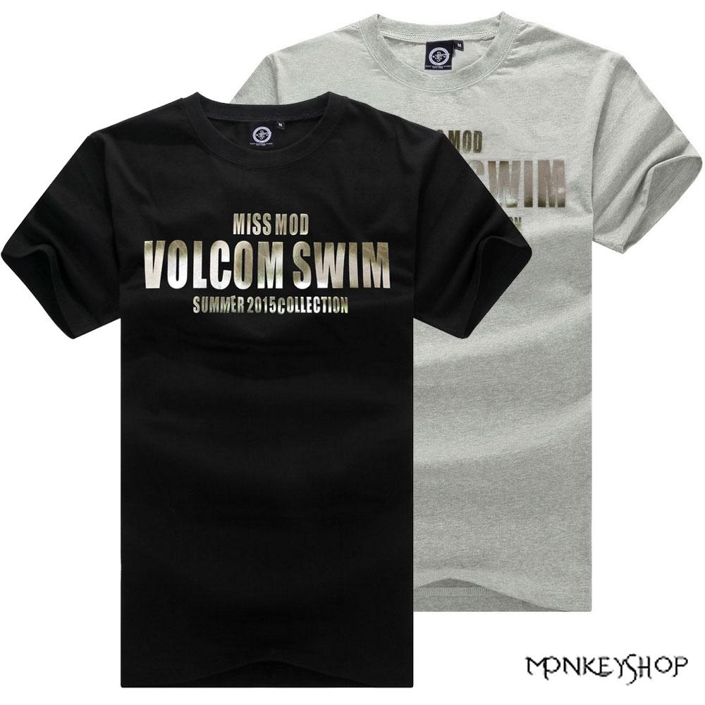 【BSG5201】MIT簡約韓式VOLCOM字母印花短袖T恤-2色《Monkey Shop》