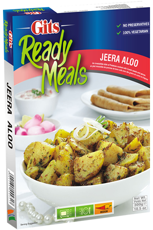 Gits Jeera Aloo 馬鈴薯 + 小茴香即食調理包