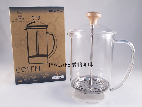 《愛鴨咖啡》FH-109W 一屋窯 耐熱玻璃 法式濾壓壺 600ml