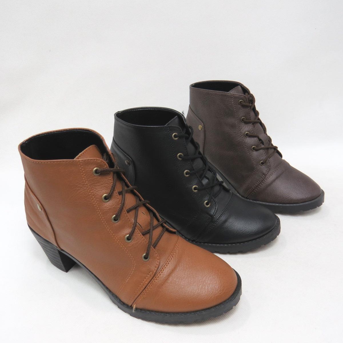 *免運*短靴 素面綁帶短粗跟踝靴15-6123(咖/黑/棕)*[彩虹屋]* 現+預
