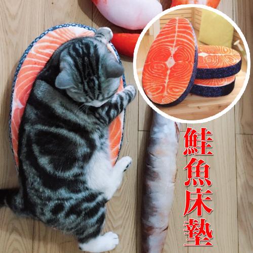 【小樂寵】仿真鮭魚造型坐墊/床墊