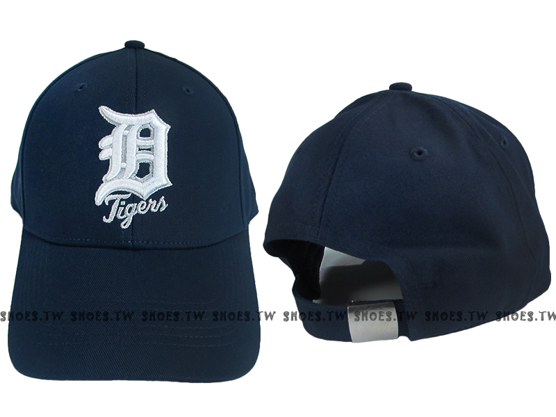 Shoestw【5032067-580】MLB 棒球帽 調整帽 老帽 老虎隊 深藍 凸繡