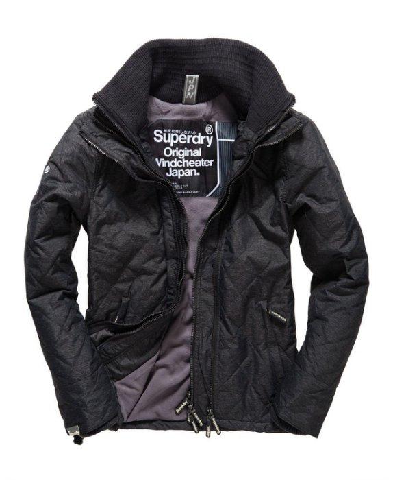 [男款] 英國代購 極度乾燥 Superdry Quilted Arctic Windcheater 男士 絎縫防風衣夾克 黑灰