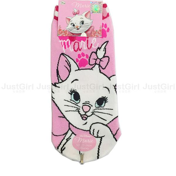 迪士尼 瑪麗貓 瑪莉貓 Marie 襪子 短襪 船型襪 彈性襪 成人襪 39元 台灣製造 * JustGirl *