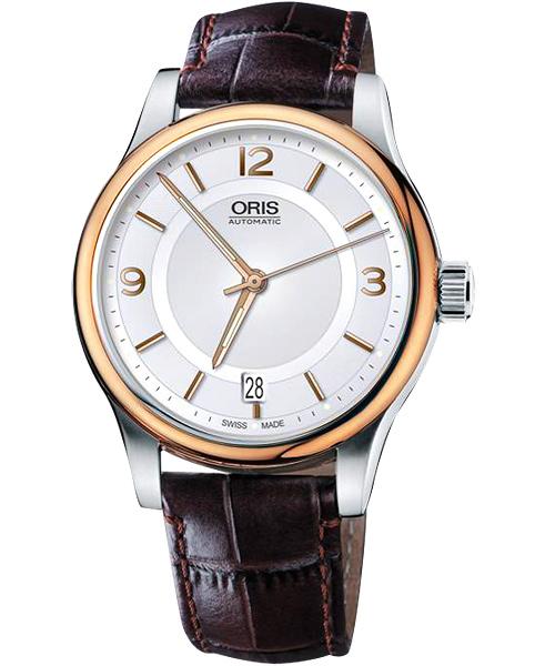 ORIS 豪利時0173375944331-0752012 經典都會雙色機械腕錶/白面42mm