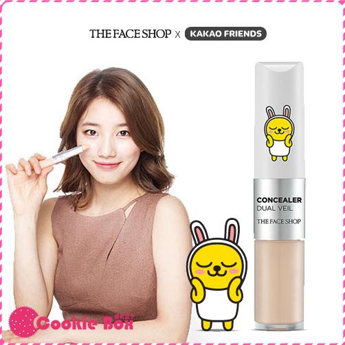 韓國 THE FACE SHOP X KAKAO 兩用 遮瑕膏 4.3+3.8g 底妝*餅乾盒子*