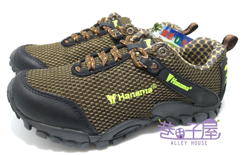 【巷子屋】HANAMA悍馬 男/女款零負擔戶外運動鞋/登山鞋 [4519] 綠棕 超值價$690