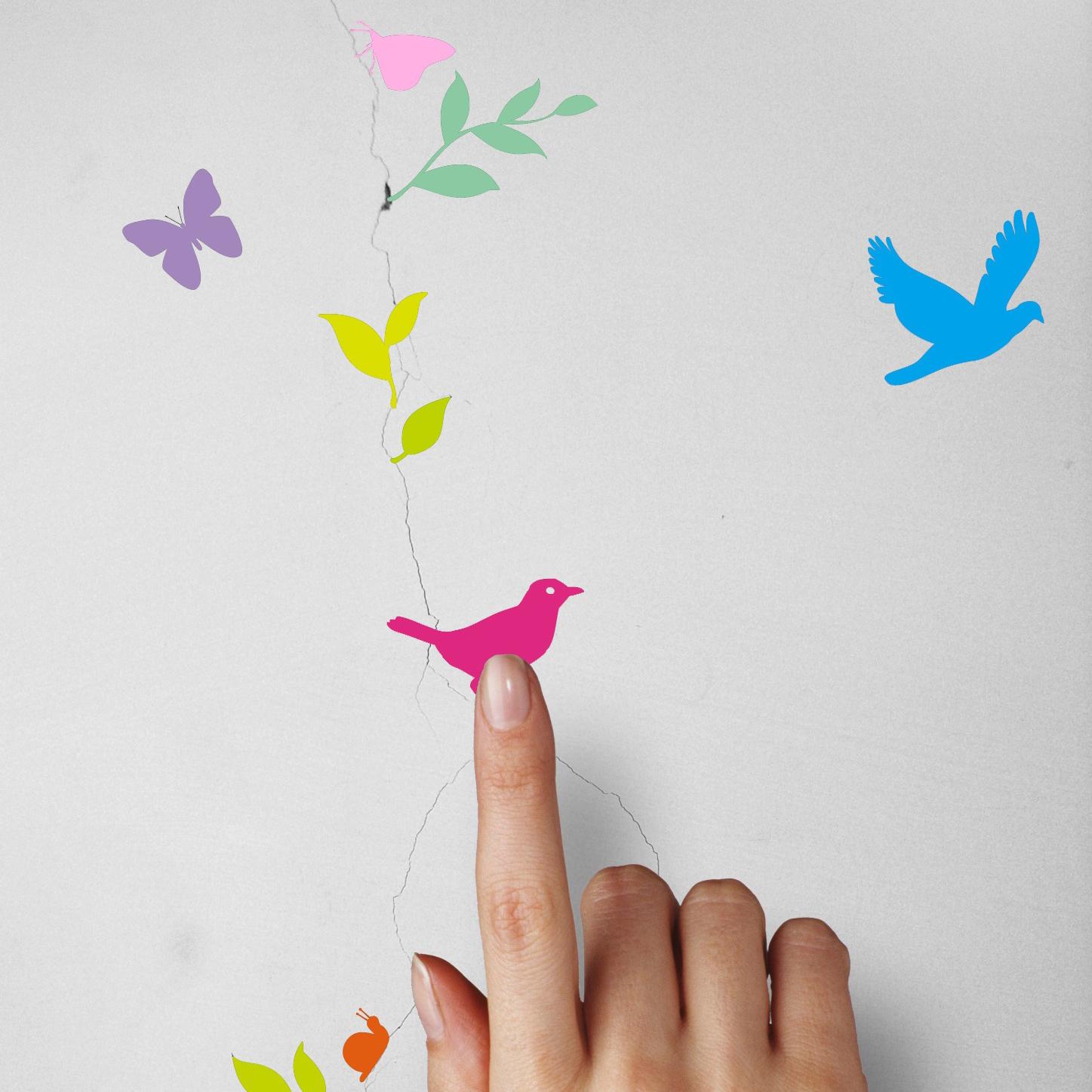 『 輕鬆美化牆壁 』TakeBreak 牆壁裂痕壁貼 彩色