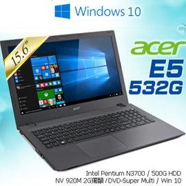 ACER  E5-532G-P4YU 15.6吋 筆電 N3700 / 1*4G / 500G_L / SM / W10HML64-004/UN.MZ1TA.004