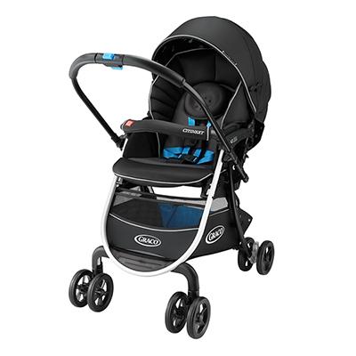 【悅兒樂婦幼用品舘】Graco 購物型雙向嬰幼兒手推車豪華休旅 CITINEXT CTS-黑色曙光