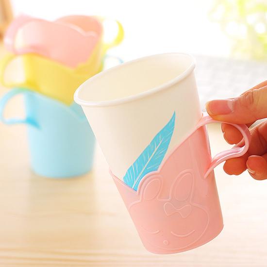 ♚MY COLOR♚兔子造型提杯(六入) 防燙 隔熱 水杯 美觀 冷飲 手柄 居家 野餐 派對 果汁【G08-2】