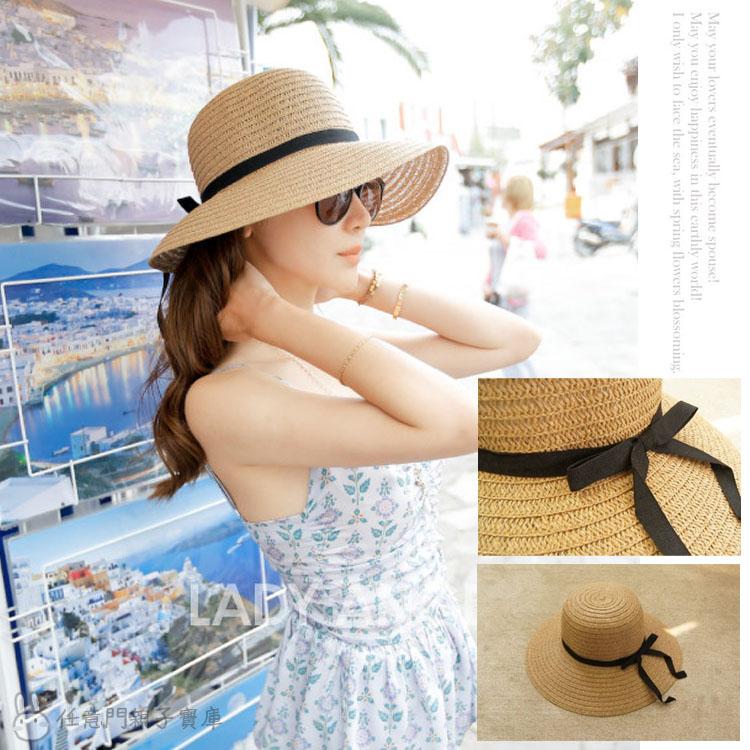 《任意門》大沿帽 大草帽 沙灘帽 太陽帽 草帽 寬緣帽 比基尼 海灘 遮陽帽 【CA013】