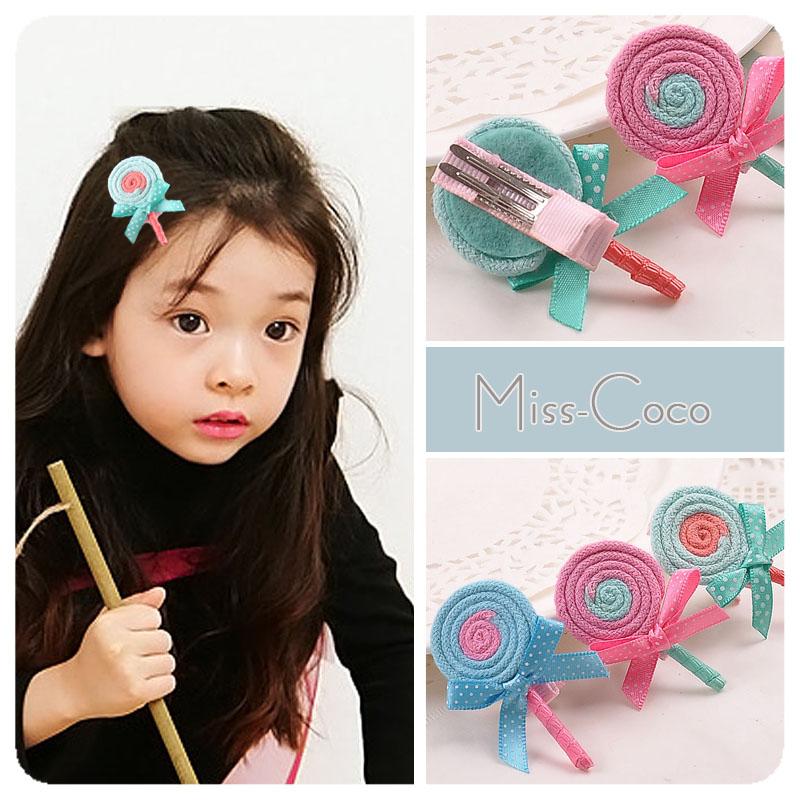 《任意門親子寶庫》韓風 兒童.髮飾/髮夾.髮束.髮圈.髮箍 【HR126】棒棒糖平夾