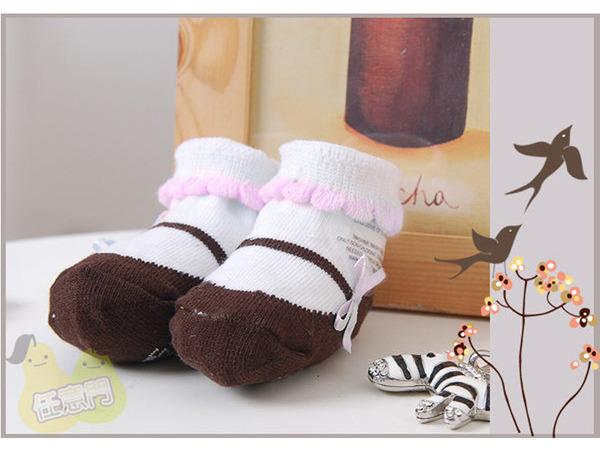 《任意門親子寶庫》 超人氣可愛寶寶襪 【BS022】芭蕾舞鞋造型襪