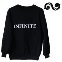 ☆ New Style ☆ 韓潮時尚 INFINITE BACK 同款圓領加絨長袖T恤 打歌服