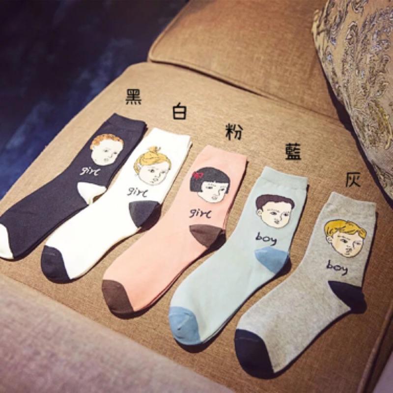 【開幕促銷】男女孩 中筒襪 短襪 船襪 隱形襪 五指襪 文青情侶 運動穿搭 阿華有事嗎 S0010
