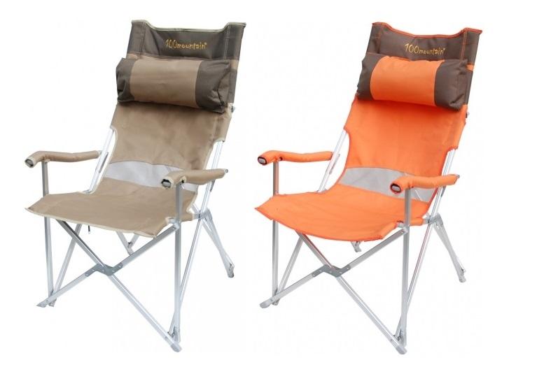 【露營趣】中和 100mountain 大川椅 休閒椅 高背椅 沙灘椅 摺疊椅 附頭枕 速可搭 MT-CH001K