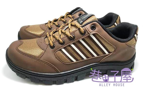【巷子屋】TEC ONE 男款四條造型全車縫底運動休閒鞋 [90189] 咖啡 MIT台灣製造 超值價$590