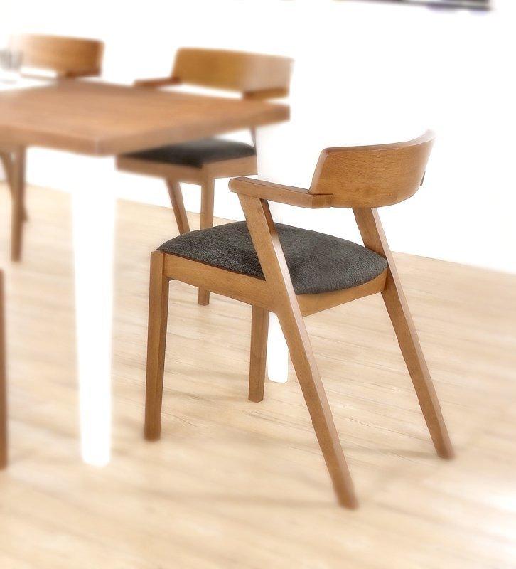 【新生活家具】 馬來西亞進口 橡膠木 胡桃色 餐椅 餐桌 維納斯 設計師款 非 H&D ikea 宜家