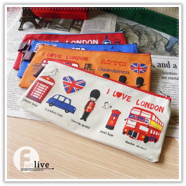 【aife life】英倫風牛津筆袋/倫敦風收納袋/英國皇家士兵筆袋/化妝包/萬用袋/鉛筆盒/眼鏡袋/錢包