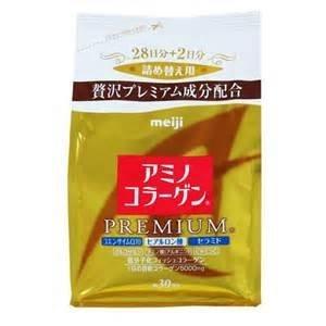 日本原裝 MEIJI日本明治膠原蛋白金色黃金版尊爵版補充包30日份214g - 一九九六的夏天