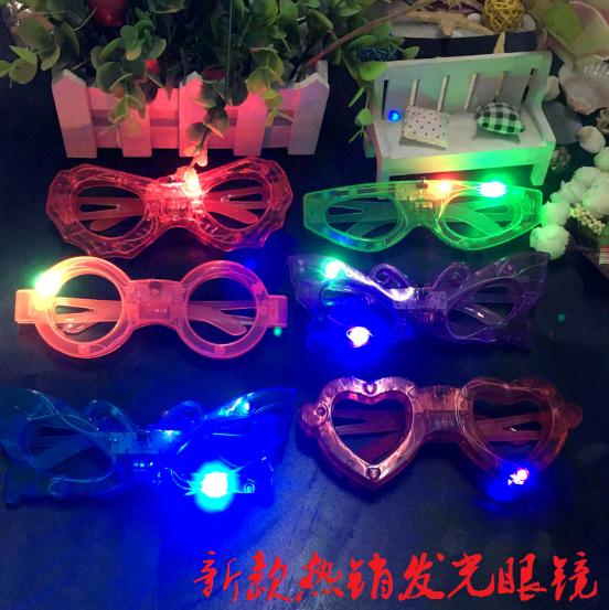 新款發光眼鏡/兒童發光LED眼鏡/酒吧節日聖誕派對用品39元【省錢博士】