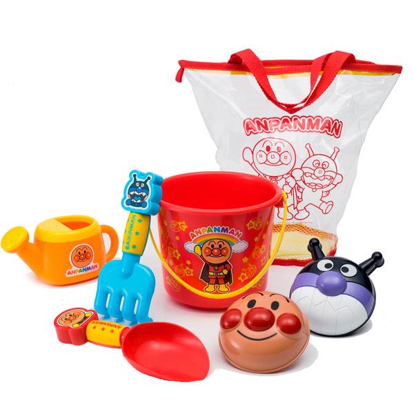 日本 ANPANMAN 麵包超人 玩沙工具組/沙灘玩具/洗澡玩具 *夏日微風*