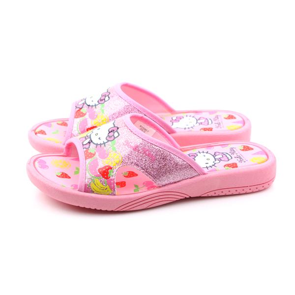 Hello Kitty 凱蒂貓 KITTY 拖鞋 童鞋 桃紅色 童 no726