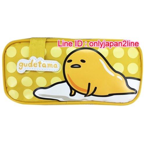 【真愛日本】16101500006拉鏈長方筆袋-蛋黃哥      蛋黃哥 三麗鷗 鉛筆盒 鉛筆袋 文具用品 收納