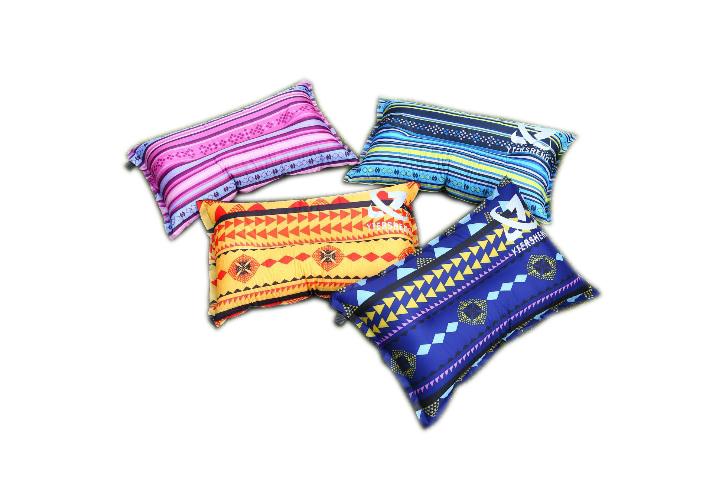 【露營趣】中和 TNR-118 民族風 自動充氣枕頭 充氣枕頭 露營枕頭 充氣枕 非Foam-Tex NatureHike-NH