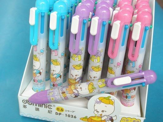多咪尼多用筆DP-1036六合一圓珠筆+自動鉛筆/一支入{促30}
