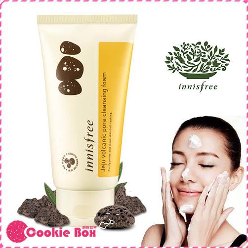 韓國 innisfree 火山灰 毛孔 清潔 泡沫 洗面乳 臉部 保濕 深層 潔面乳 細緻 150ml *餅乾盒子*
