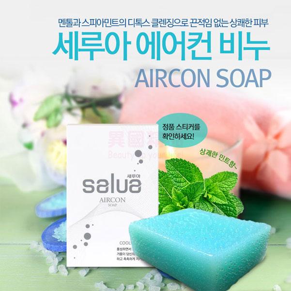 韓國 Salua 安瓶精油手工空調冰皂 一入 涼感皂 100g【特價】§異國精品§