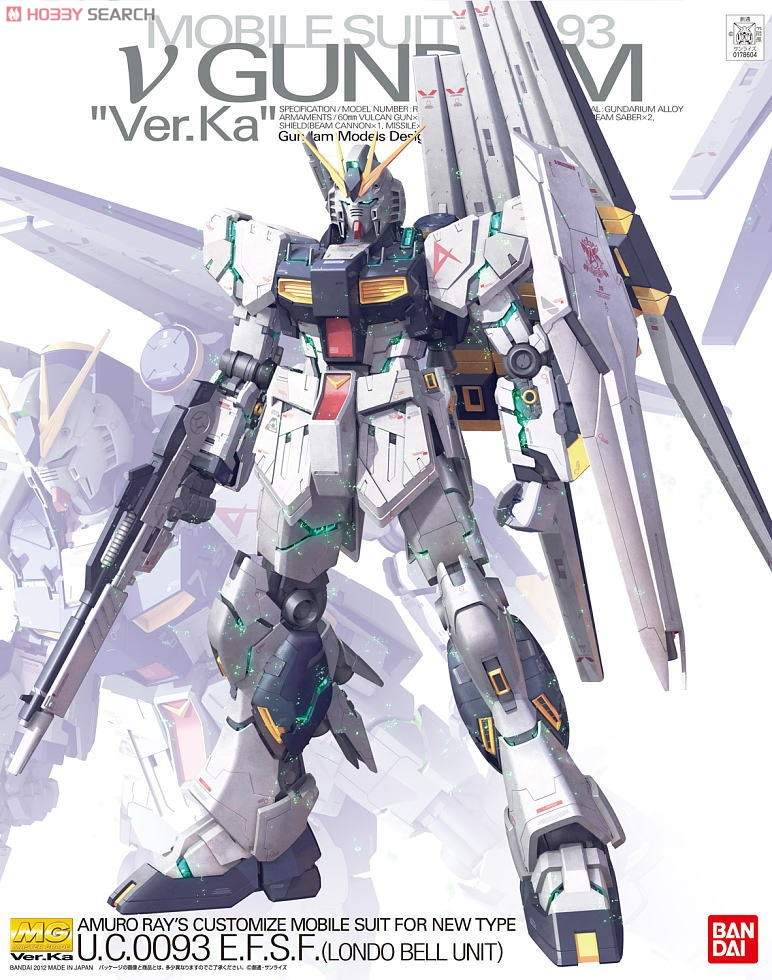 ◆時光殺手玩具館◆ 現貨 組裝模型 模型 鋼彈模型 BANDAI MG 1/100 機動戰士鋼彈 逆襲的夏亞 鋼彈RX-93 NU GUNDAM Ver.Ka