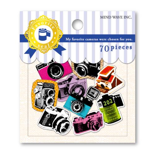 Mind Wave  Favorite Seal 貼紙包 -  最喜歡的相機 【73909】 1包