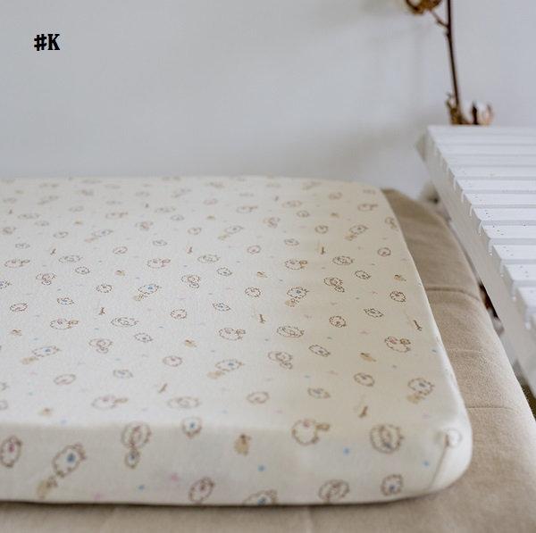 嬰兒【精梳棉】床包。嬰兒床單。嬰兒床罩-K米色綿羊
