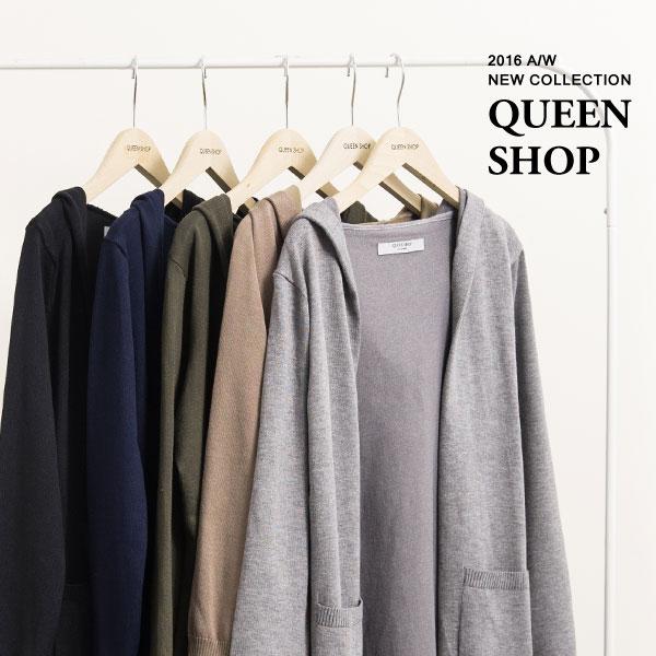 Queen Shop【02010856】長版開襟連帽針織外套 五色售*現貨+預購*