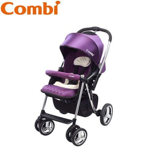 ★衛立兒生活館★康貝 Combi Mega Ride DX嬰兒手推車-幻影紫(華麗紫)贈濕紙巾保溫器