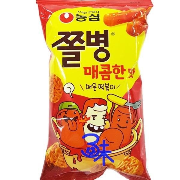 (韓國) 農心丸子麵-辣年糕味 1組 3包 ( 90g*3包) 特價 138 元 【 8801043031431】(辣炒年糕脆麵餅乾)