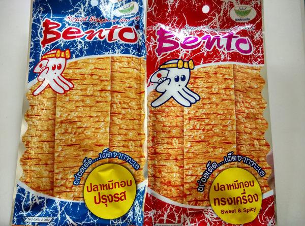 (特價) 泰國 Bento 超味魷魚 24g 蒜辣藍/香辣紅