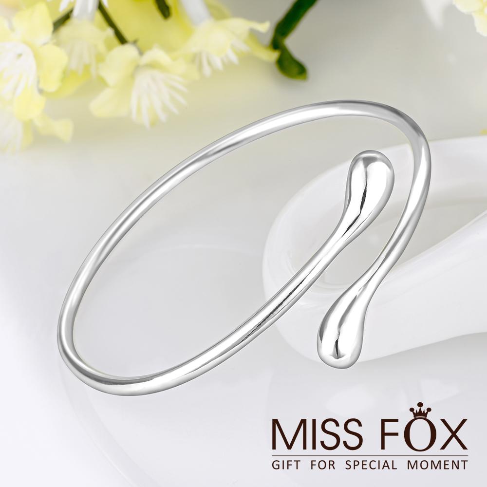 限時5折 925純銀手環 水吻 簡約流線手環 JJ0946