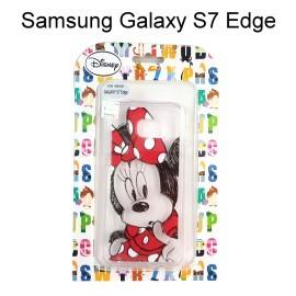 迪士尼透明軟殼 [素描] 米妮 Samsung G935FD Galaxy S7 Edge【Disney正版授權】