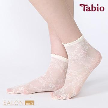 靴下屋Tabio 除臭型蕾絲短絲襪 / 絲襪材質短襪