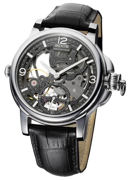 epos 愛寶時 3429.199.20.55.25FB巴賽爾藝術系列三次元限量鏤空機械腕錶/黑面45mm