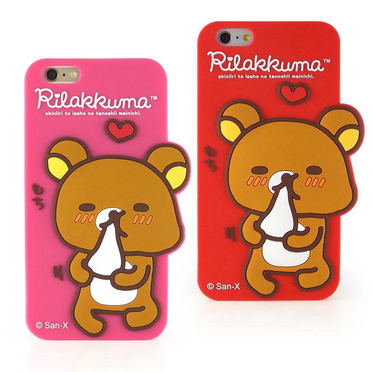 Rilakkuma 拉拉熊/懶懶熊 iPhone 6 Plus/6s Plus 可愛立體造型保護套-吃麻糬