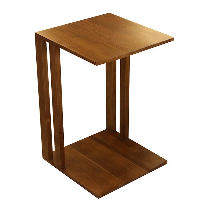 【尚品傢俱】436-21 柚木ㄇ型小邊几/小邊桌/小茶桌/寫字桌/小方几/飲料桌/置物桌/側邊几/桌旁小几