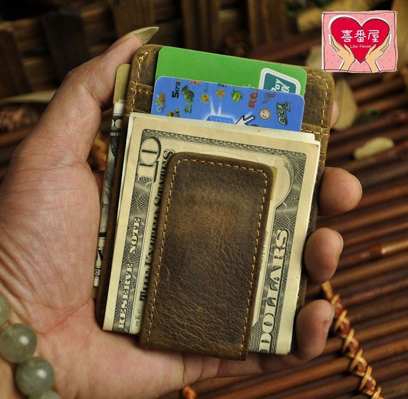 【喜番屋】日韓版真皮頭層牛皮復古多卡位磁扣卡片夾卡片包卡片套卡夾卡包卡套鈔票夾皮夾皮包錢夾錢包男夾男包精品禮物CB102
